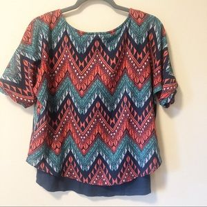 Anthropologie Tops - Anthropologie Meadow Rue Chevron Print top
